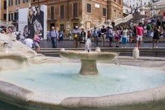 Piazza Di Spagna Ρώμη Στοκ Εικόνες