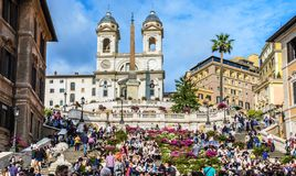 Piazza di Spagna lizenzfreie stockbilder