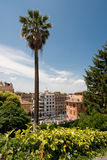 Piazza di Spagna. Image showing the lower part of the Piazza di Spagna and the start of via Condotti stock photography
