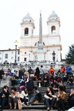 Piazza Di Spagna Royalty-vrije Stock Afbeeldingen