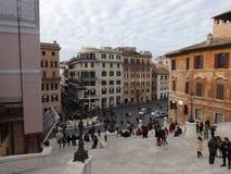 Piazza di Spagna dalle scale fotografia stock libera da diritti