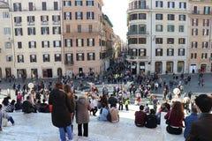Rome, Italy - Piazza di Spagna and Trinità dei Monti. stock image