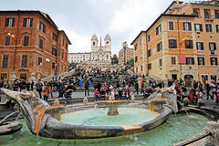 Piazza di Spagna. An historical and wonderful architecture in Rome Royalty Free Stock Images