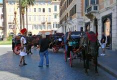 Piazza di Spagna i Rome royaltyfri fotografi