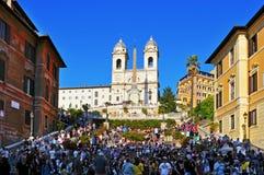 Piazza di Spagna i Rome, Italien Arkivbilder