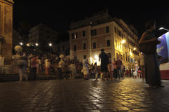 Piazza di Spagna by night Royalty Free Stock Photography