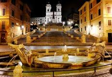 Piazza di Spagna och spanska moment, Rome, Italien Royaltyfri Bild