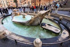 Piazza di Spagna, Rom Stockbild
