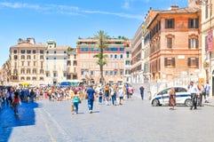 Piazza di Spagna a Roma, Italia Fotografie Stock