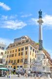 Piazza di Spagna a Roma, Italia Fotografia Stock
