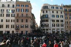 Piazza di spagna,roma royalty free stock photography