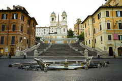 Piazza di Spagna in Roma Royalty Free Stock Photo