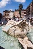 Piazza di Spagna Rome Arkivfoto