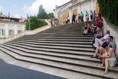 Piazza di Spagna Rome Arkivbilder