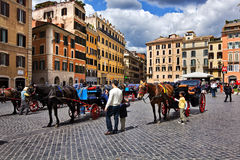 Piazza di Spagna, Rome Italy Stock Image