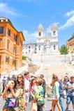 Piazza di Spagna in Rome, Italy Stock Photos