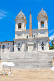 Piazza di Spagna in Rome, Italy Royalty Free Stock Images