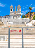 Piazza di Spagna in Rome, Italy Royalty Free Stock Photography