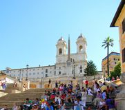 Piazza di Spagna in Rome royalty free stock photo