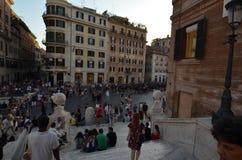 Piazza di Spagna, spanische Schritte, Stadt, Stadt, Marktplatz, Stadtgebiet Lizenzfreies Stockfoto