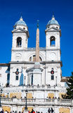 Piazza di Spagna and Trinita dei Monti church in Rome, Rome Royalty Free Stock Photos