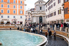 Piazza di Trevi in Rome Royalty Free Stock Photos