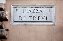 Piazza di Trevi in Rome, Italy Royalty Free Stock Photos