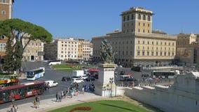 Piazza Di Venezia, Ρώμη, Ιταλία απόθεμα βίντεο