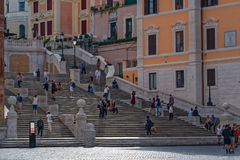 Piazza Di w Rzym Spagna Obrazy Stock