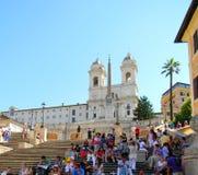 Piazza Di w Rzym Spagna zdjęcie royalty free