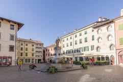 Piazza Diacono w Cividale Del Friuli Zdjęcie Stock