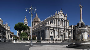 Piazza Duomo , Catania , Sicily Royalty Free Stock Photos