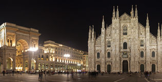Piazza Duomo in Milan ( Milano ) , Italy Royalty Free Stock Photos