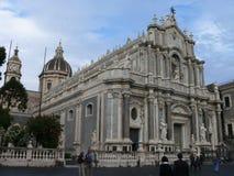 Piazza Duomo, Catania. Duomo in Duomo Square in Catania, Sicily, Italy Stock Photos
