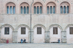 Piazza Duomo with the cathedral in parma Royalty Free Stock Photography
