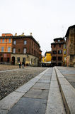 Piazza Duomo with the cathedral in parma Royalty Free Stock Photo