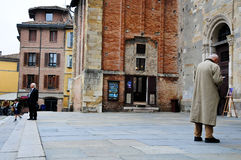 Piazza Duomo with the cathedral in parma Royalty Free Stock Images