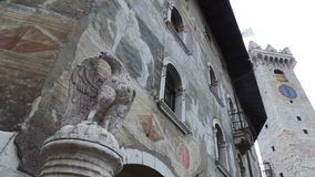 Piazza Duomo and  cathedral of San Vigilio in Trento. Royalty Free Stock Photos