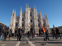 Piazza Duomo Cathedral Square in Milan Royalty Free Stock Photography