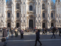 Piazza Duomo Cathedral Square in Milan Stock Photos
