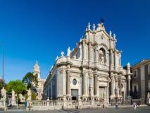 Piazza Duomo i katedra Santa Agatha Catania, Sicily, Włochy Obraz Royalty Free