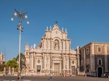 Piazza Duomo lub katedra kwadrat z katedrą duomo w Catania Santa Agatha lub Catania Obrazy Royalty Free