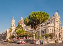Piazza Duomo lub katedra kwadrat z katedrą Santa Agatha Obraz Stock