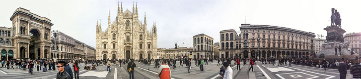 Piazza Duomo in Milaan Royalty-vrije Stock Fotografie