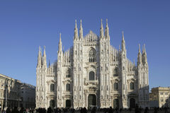 Piazza duomo in Milan, Italy Royalty Free Stock Photo