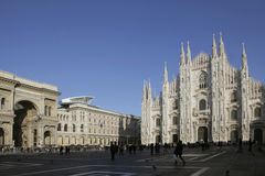 Piazza duomo in Milan, Italy Stock Photos