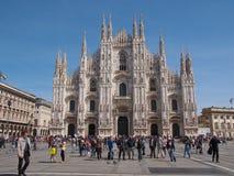 Piazza Duomo Milan Stock Photography