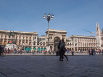 Piazza Duomo Milan Stock Photo