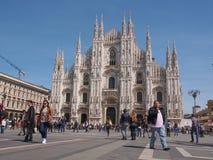 Piazza Duomo Milan Royalty Free Stock Images