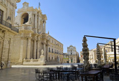 Piazza Duomo in Siracusa - Sicily, Italy Royalty Free Stock Photography
